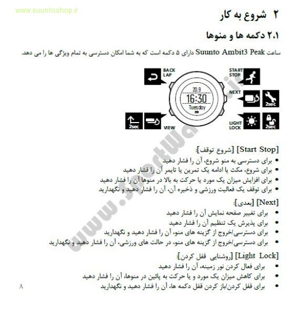 Suunto Ambit3 Peak Persian User Manual